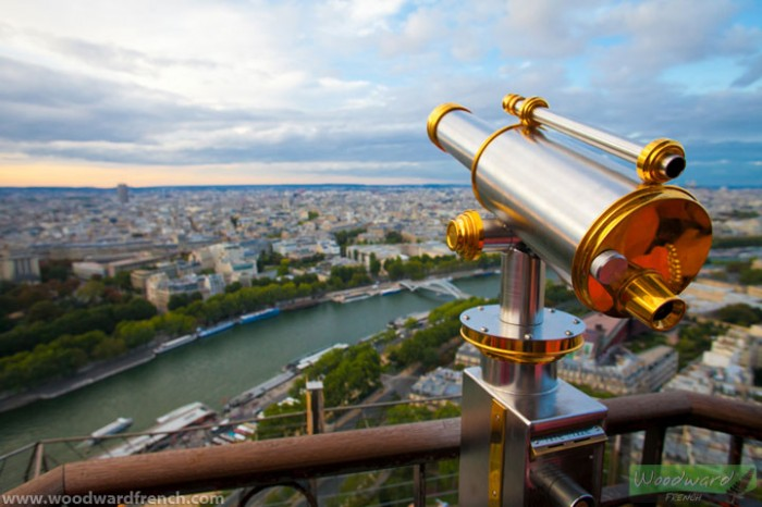 View of Paris from the Eiffel Tower - France