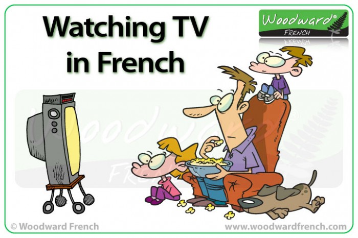Watching TV in French