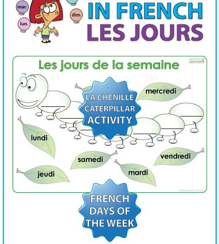 French Days of the Week – Caterpillar Activity – La Chenille ...